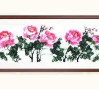 客厅装饰画花开富贵,花开富贵图片,牡丹图国画