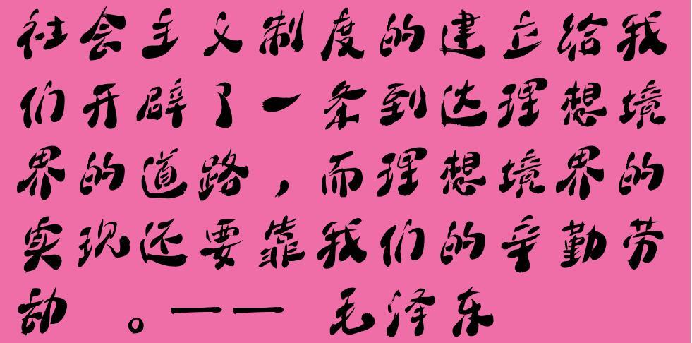 毛泽东励志名言警句 社会主义制度的建立给我们开辟了