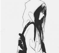 qq头像动漫非主流黑白图片