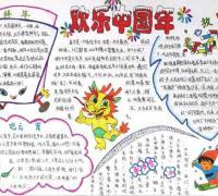 没有爆竹的欢乐中国年手抄报内容材料