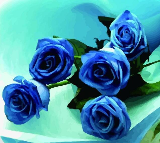 蓝色妖姬是干花吗_送19蓝色妖姬花语什么意思?19朵蓝色妖姬花语解释_秋雨露