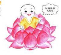 小和尚念佛禅语配图片